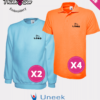 Uneek Sole trader, team and tradesmen embroidered Sweatshirt and embroidered Polo Shirt discounted bundle