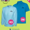Sole trader, team and tradesmen embroidered Sweatshirt and embroidered Polo Shirt discounted bundle