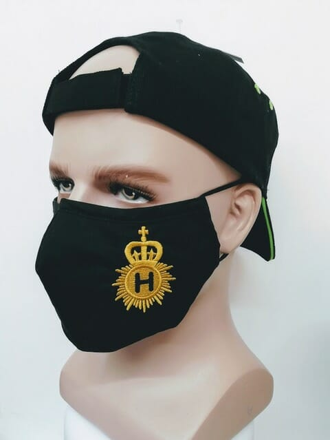 Line Of Duty AC-12 Novelty Embroidered Police Mask - showing crest on left side