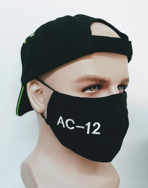 Line Of Duty AC-12 Novelty Embroidered Police Mask - right side
